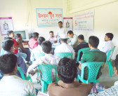 Bandhu Shava working on anti-tobacco activities at Sadar in Gazipur
