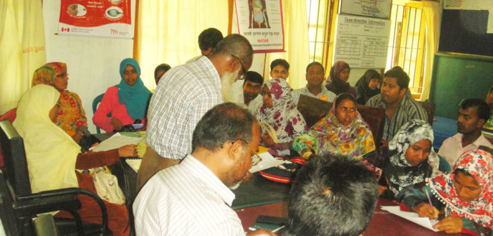 Orientation meeting with Community Health Care Provider (CHCP) at Zeniagati in Sherpur.