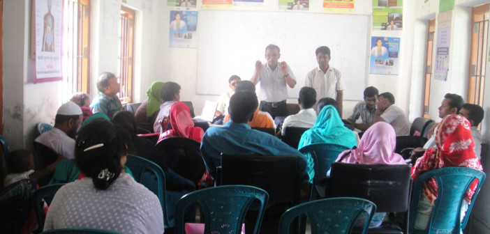 Orientation meeting with Community Health Care Provider (CHCP) at Sreebordi in Sherpur.