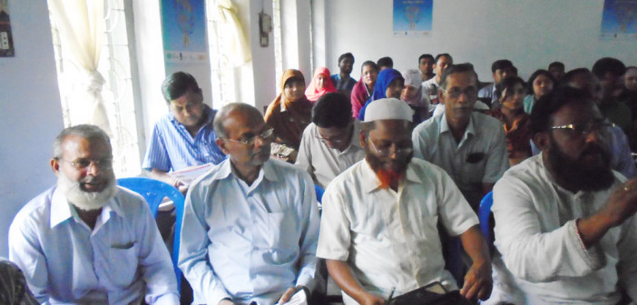 Orientation meeting with Community Health Care Provider (CHCP) at Kapasia in Gazipur.