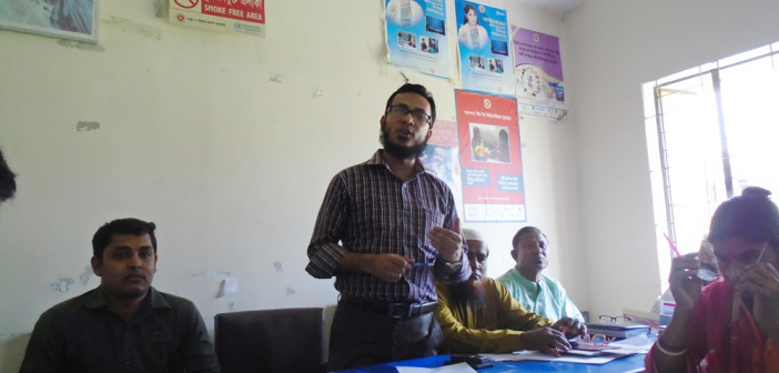 Awareness Meeting with Health Assistant at Haluaghat, Mymensingh.