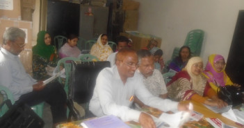 Awareness Meeting with Health Assistant at Sadar in Mymensingh.