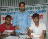 Bandhu Shava working on Anti -Tobacco Activities at Ghatail, in Tangail.